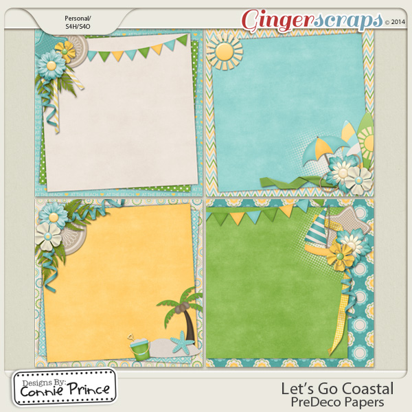 Let's Go Coastal - PreDeco Papers