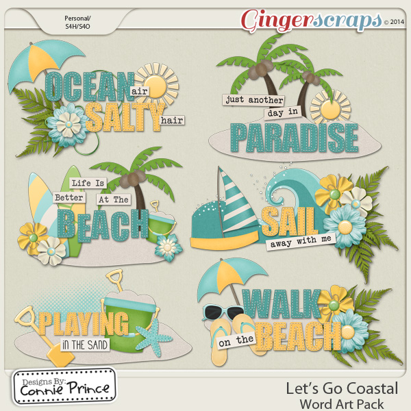 Let's Go Coastal - Word Art