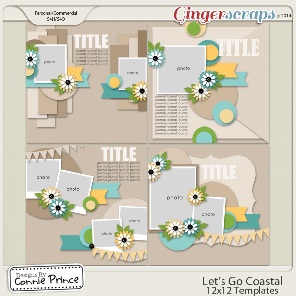 Let's Go Coastal  - 12x12 Temps (CU Ok)