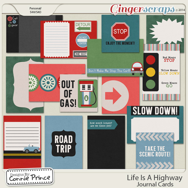 Life Is A Highway - Journal Cards