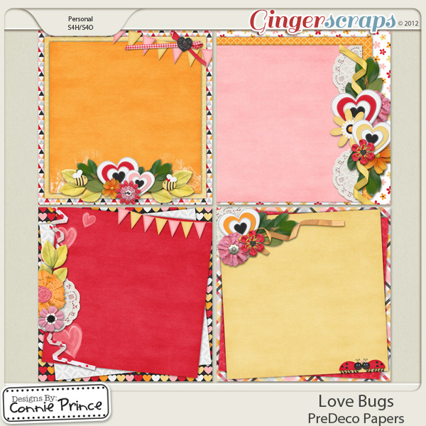 Love Bugs - PreDeco Papers