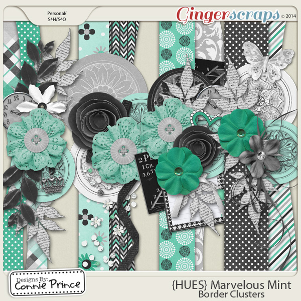 {HUES} Marvelous Mint - Border Clusters