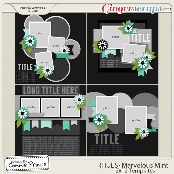 {HUES} Marvelous Mint - 12x12 Temps (CU Ok)