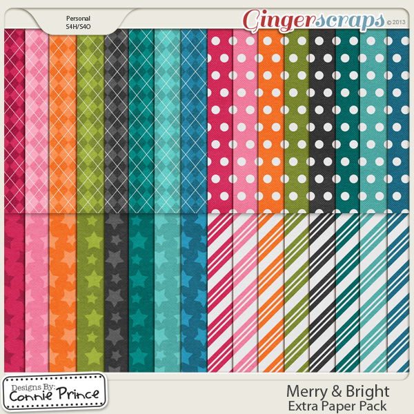 Merry & Bright - Extra Paper Pack