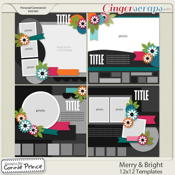 Retiring Soon - Merry & Bright 12x12 Templates (CU OK)
