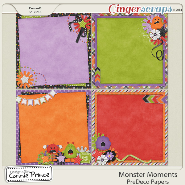 Monster Moments - PreDeco Papers