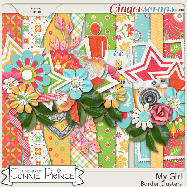 My Girl - Border Clusters by Connie Prince