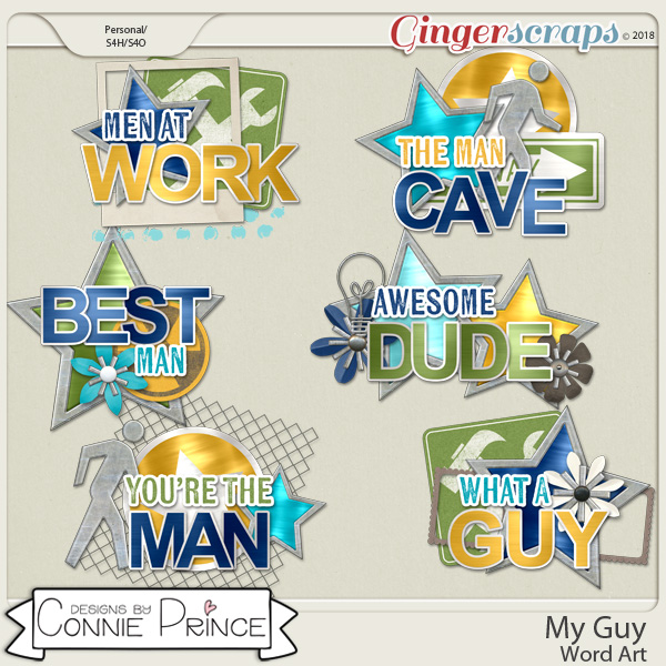 My Guy - Word Art Pack by Connie Prince
