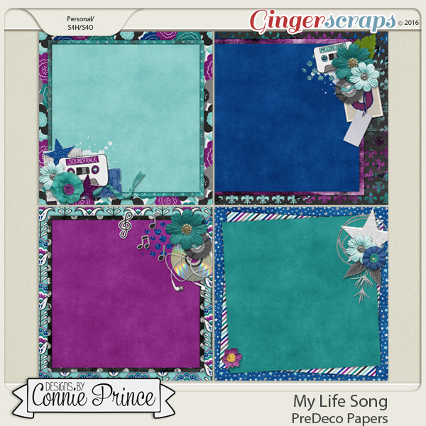 My Life Song - PreDeco Papers