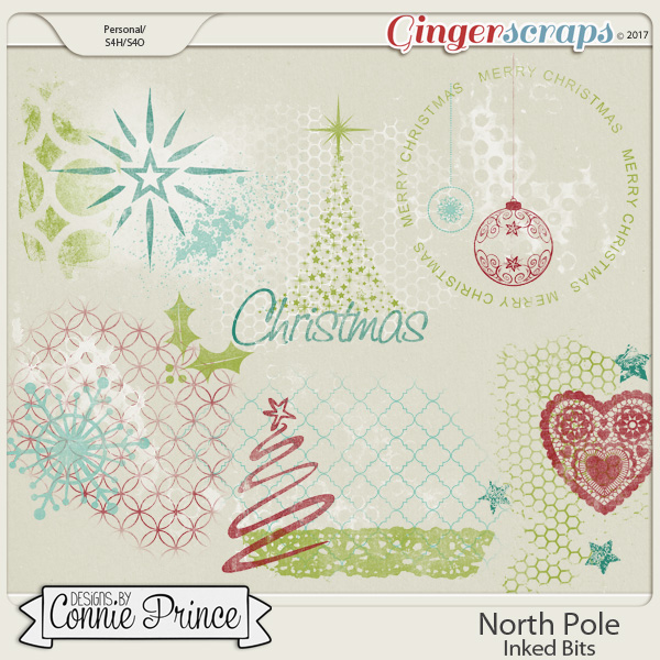 North Pole- Inked Bits by Connie Prince
