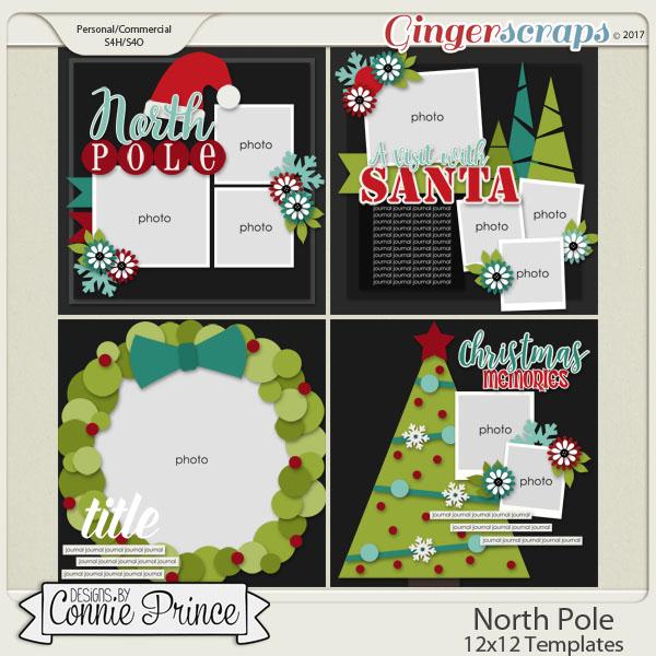 North Pole - 12x12 Temps (CU Ok) by Connie Prince