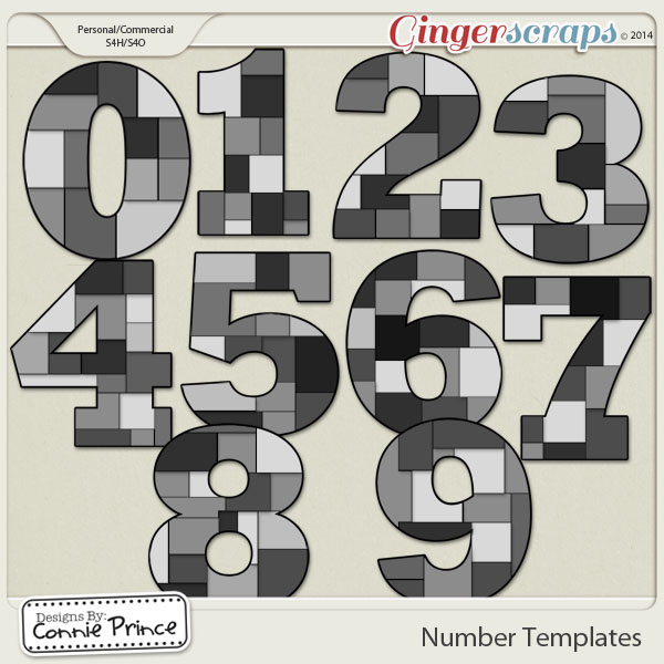 Number Templates Volume 1 (CU Ok)
