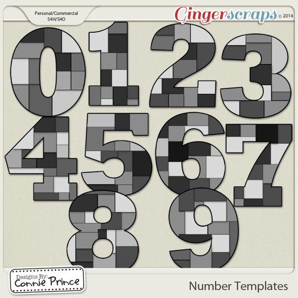 Number Templates Volume 1 (CU Ok)
