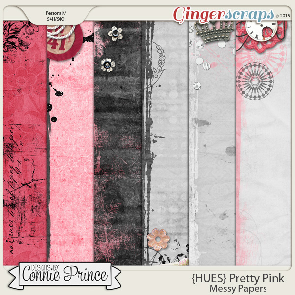 {HUES} Pretty Pink - Messy Paper Pack