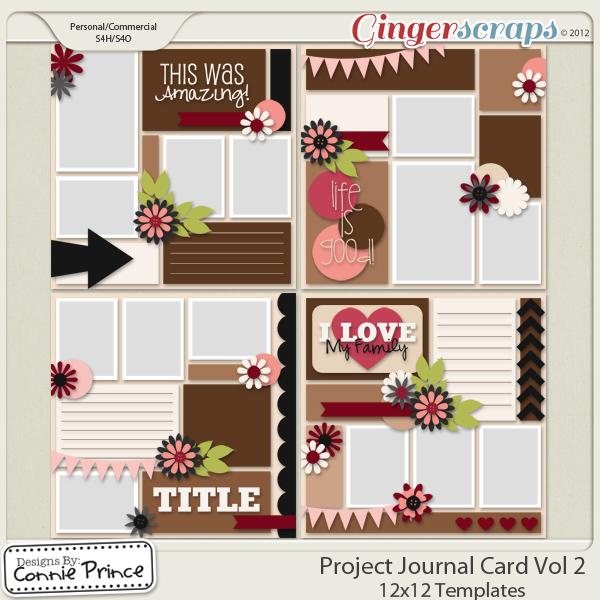 Retiring Soon - Project Journal Card 12x12 Temps - Vol 2 (CU Ok)