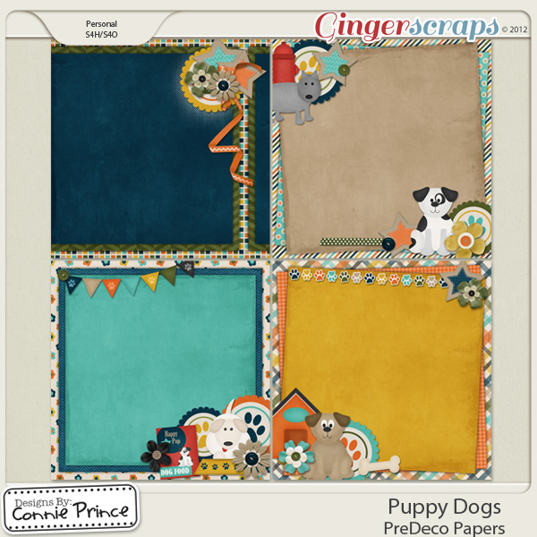Puppy Dogs - PreDeco Papers