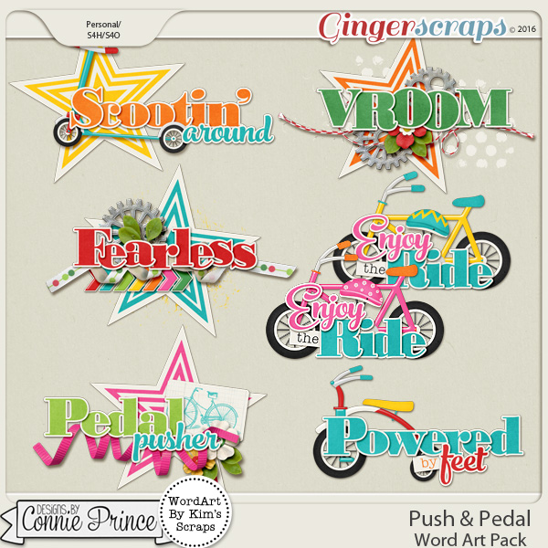 Push & Pedal - WordArt Pack