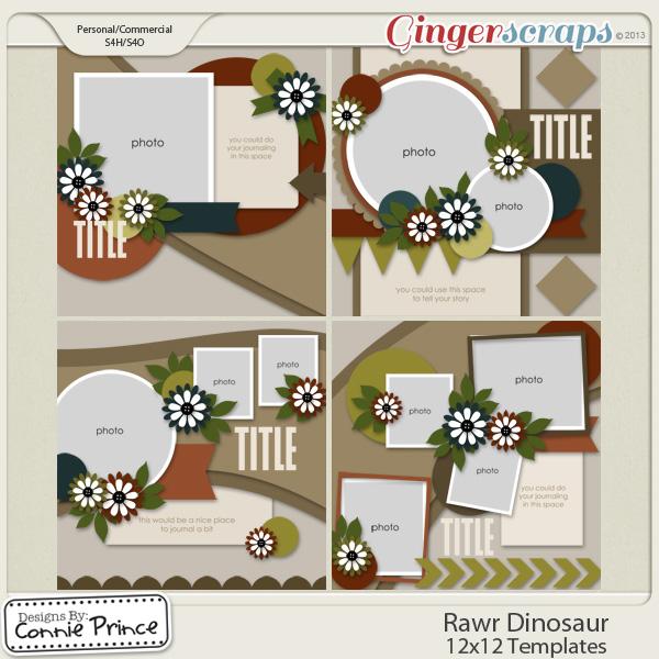 Rawr Dinosaur - 12x12 Temps (CU Ok)