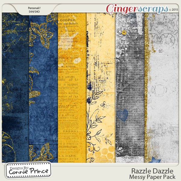 Retiring Soon - Razzle Dazzle - Messy Papers