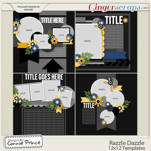 Razzle Dazzle - 12x12 Templates (CU Ok)