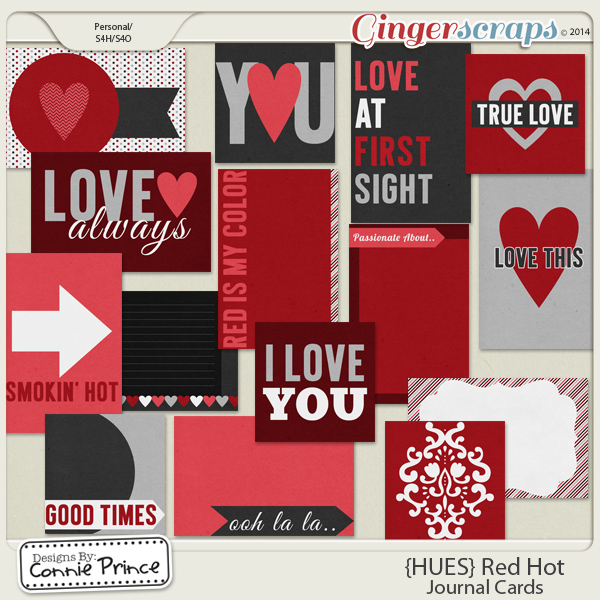 {HUES} Red Hot - Journal Cards