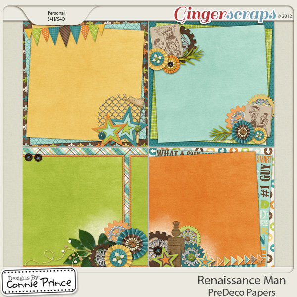 Renaissance Man -  PreDeco Papers