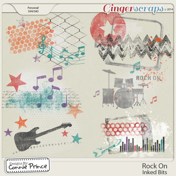 Rock On - Journal Cards