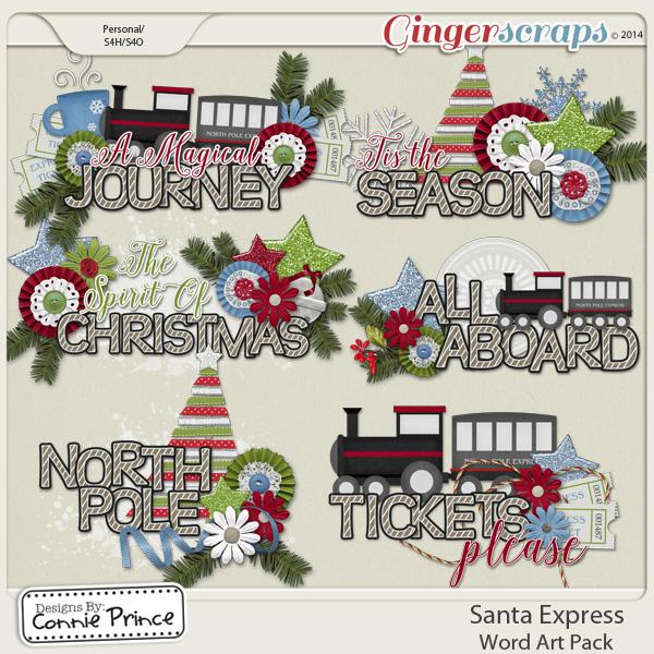 Santa Express - Word Art