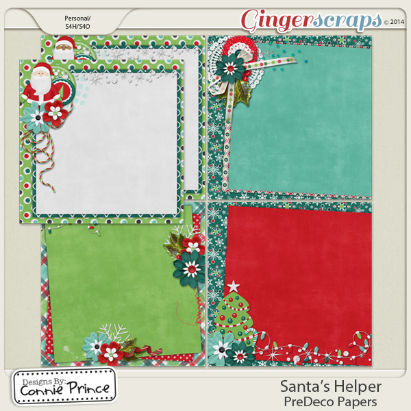 Santa's Helper - PreDeco Papers