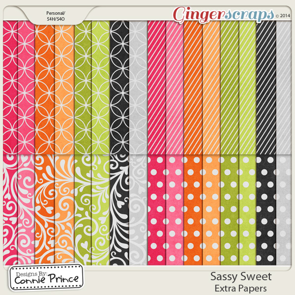 Sassy Sweet - Extra Papers