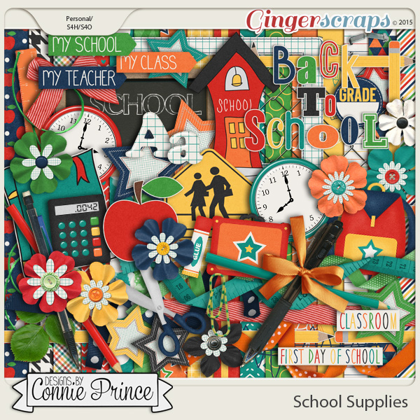 School Supplies - Kit by Connie Prince