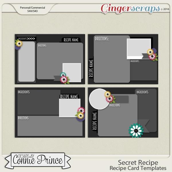 Secret Recipe - Recipe Cards