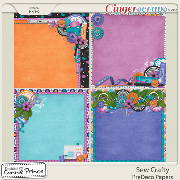 Retiring Soon - Sew Crafty - PreDeco Papers