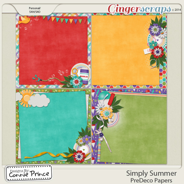 Simply Summer - PreDeco Papers