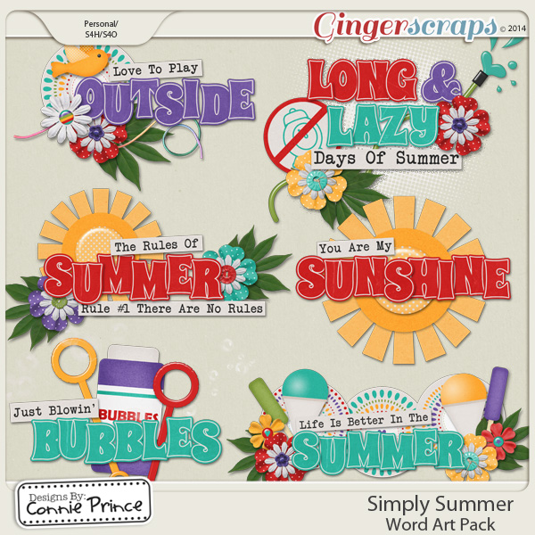 Simply Summer - Word Art