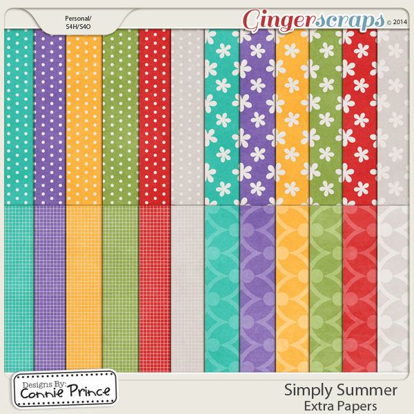 Simply Summer - Extra Papers
