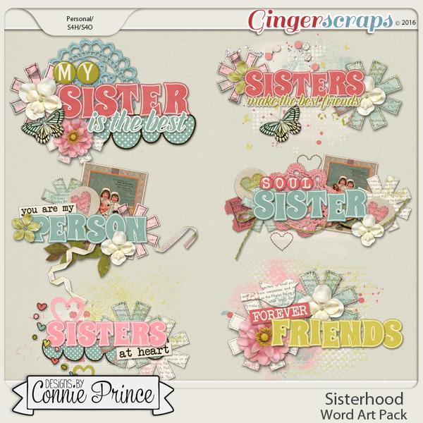 Sisterhood - Word Art