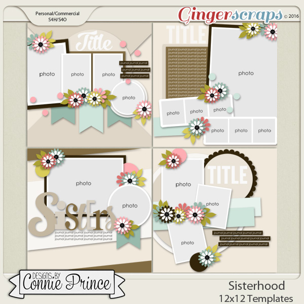 Sisterhood - 12x12 Templates (CU Ok)
