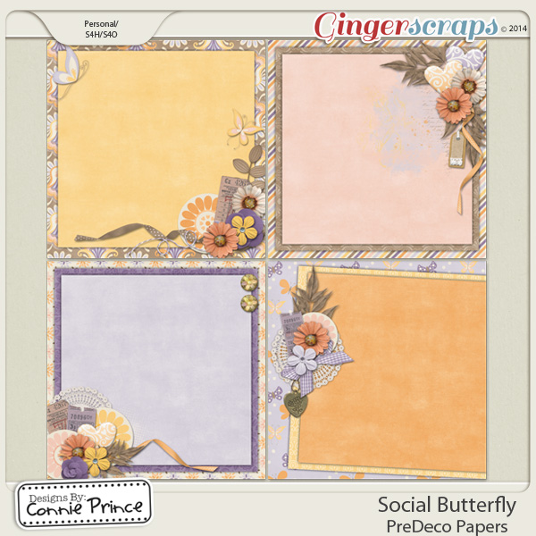 Retiring Soon - Social Butterfly - PreDeco Papers