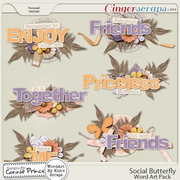 Social Butterfly - WordArt