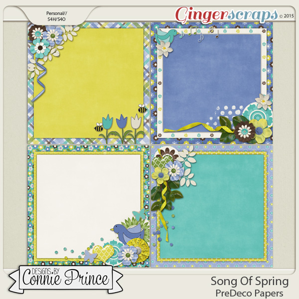 Song Of Spring - PreDeco Papers