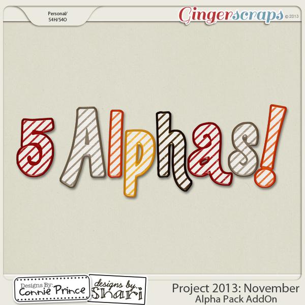 Project 2013:  November - Alpha Pack AddOn