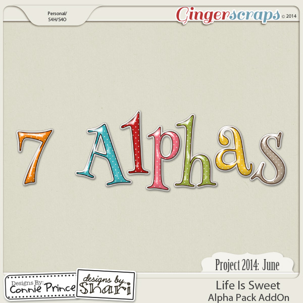 Project 2014 June:  Life Is Sweet - Alpha Pack AddOn
