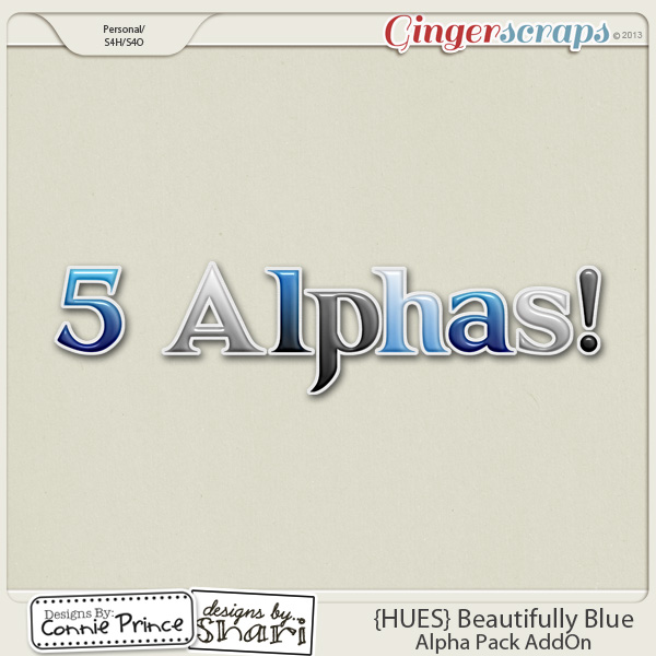 {HUES} Beautifully Blue - Alpha Pack AddOn
