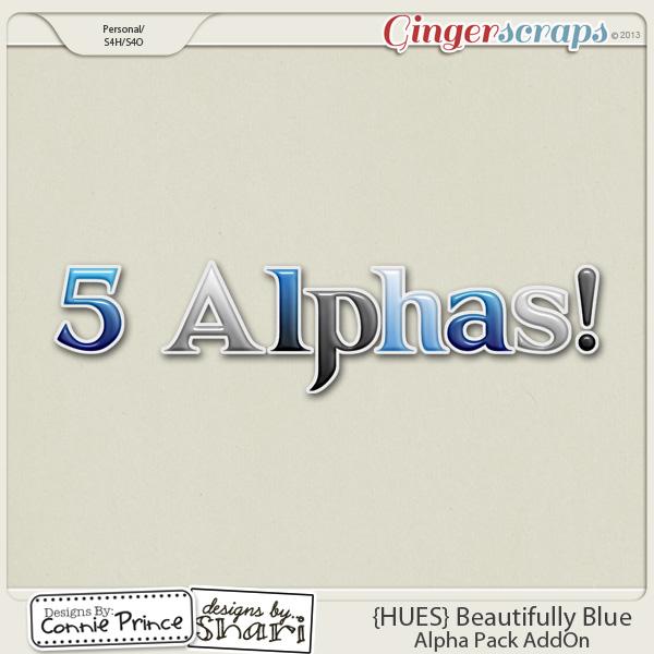 {HUES} Beautifully Blue - Alpha Pack AddOn