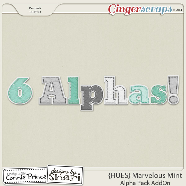 {HUES} Marvelous Mint - Alpha Pack AddOn