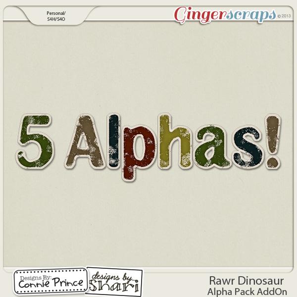 Rawr Dinosaur - Alpha Pack AddOn