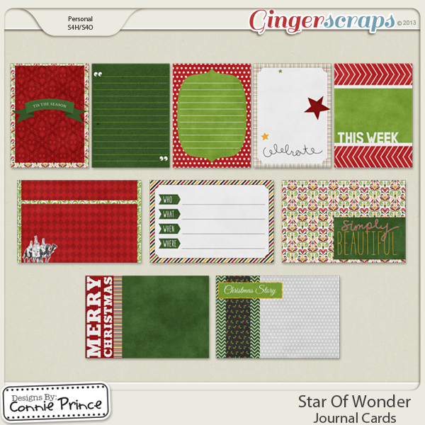 Star Of Wonder - Journal Cards