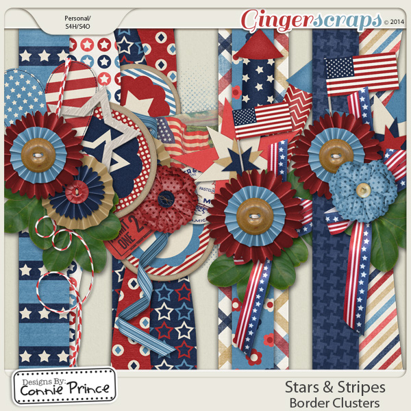 Stars & Stripes - Border Clusters
