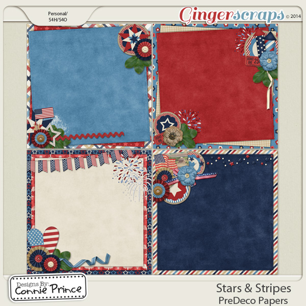 Stars & Stripes - PreDeco Papers